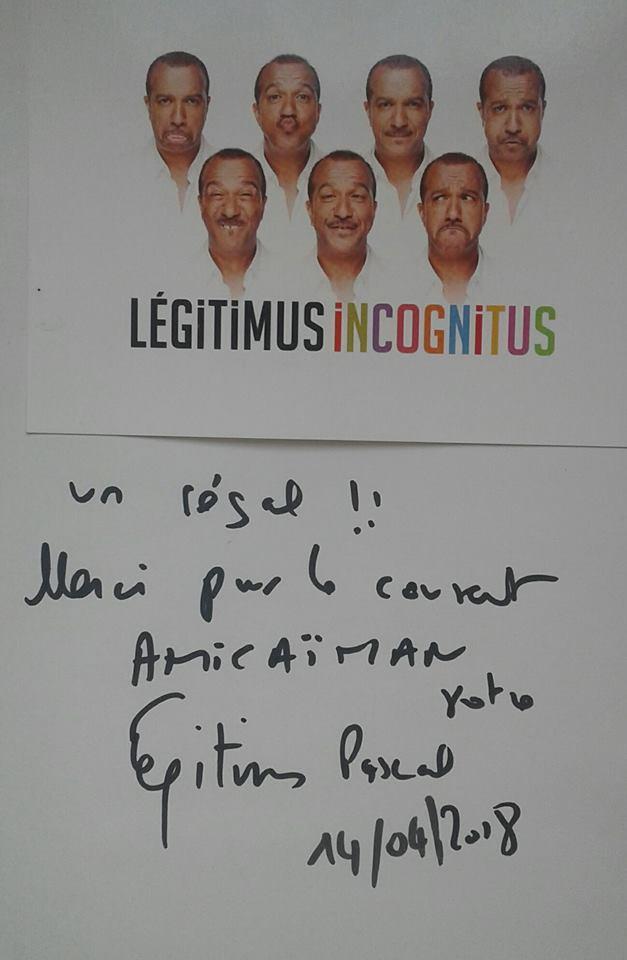 Dédicace de Pascal Legitimus